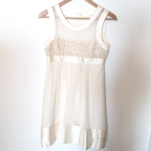 BCBG Sparkly Cream Dress